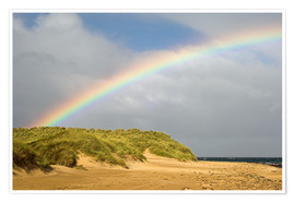 Premium poster  Rainbow over sand dunes - Duncan Shaw