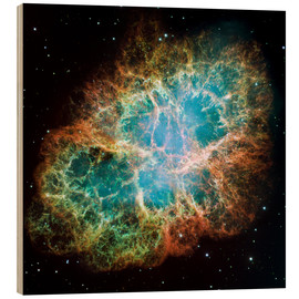 Wood print  Crab Nebula - Nasa