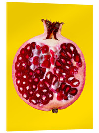 Acrylic print  Halved pomegranate - Mark Sykes