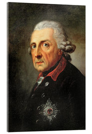 Acrylic print  Friedrich, King of Prussia - Anton Graff