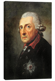 Canvas print  Friedrich, King of Prussia - Anton Graff