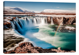 Canvas print  winter wonderland Iceland: Godafoss - Sascha Kilmer