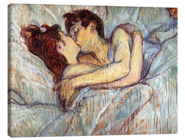Canvas print  In Bed, The Kiss - Henri de Toulouse-Lautrec