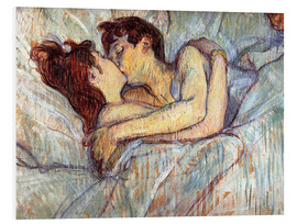 Foam board print  In Bed, The Kiss - Henri de Toulouse-Lautrec