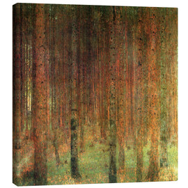 Canvas  pine forest ii - Gustav Klimt