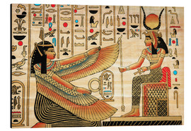 Aluminium print  Papyrus with Egyptian characters