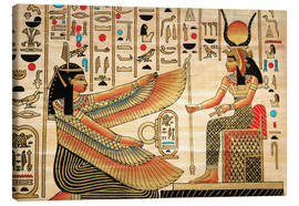 Canvas  Papyrus with Egyptian characters