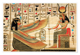 Premium poster  Papyrus with Egyptian characters