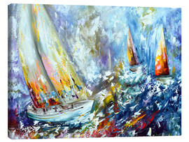 Canvas  Sailboats in storm - Theheartofart Gena