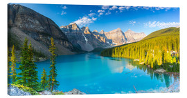 Canvas print  Moraine Lake at the morning panorama - rclassen