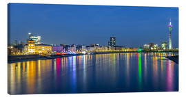 Canvas print  Duesseldorf night skyline - rclassen