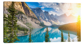 Canvas print  Moraine Lake panorama, Banff National Park, Alberta, Canada - rclassen