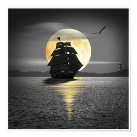 Premium poster A ship with black sails