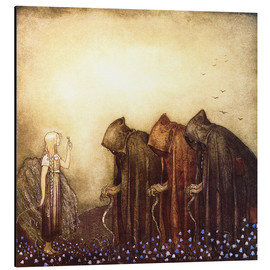 Aluminium print  The Story of Skutt the Moose and Princess Tuvstarr - John Bauer