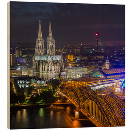 Wood print  Cologne Cathedral - rclassen