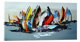 Acrylic glass  Abstract sailing - Theheartofart Gena