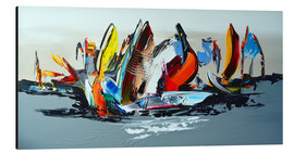 Aluminium print  Abstract sailing - Theheartofart Gena
