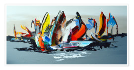 Premium poster  Abstract sailing - Theheartofart Gena