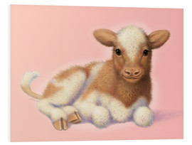 Foam board print  Little calf - John Butler