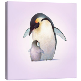 Canvas print  Penguin & Chick - John Butler