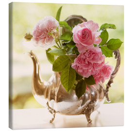 Canvas print  pink shabby-style roses - UtArt