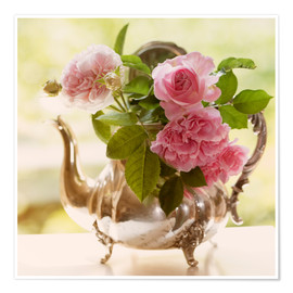 Premium poster pink shabby-style roses