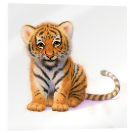 Acrylic glass  Cute Tiger Cub - John Butler