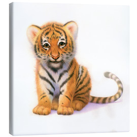 Canvas print  Cute Tiger Cub - John Butler