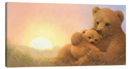 Canvas print  Bear & Cub - John Butler