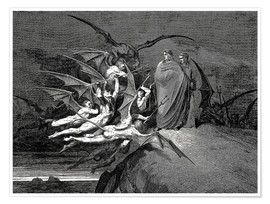 Premium poster  The Inferno, Canto 21 - Gustave Doré