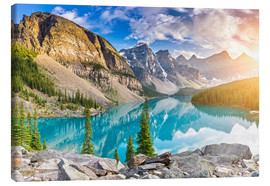 Canvas print  Canada - Sunrise at the Moraine Lake - Banff Alberta - rclassen