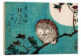 Wood print  Sleeping owl full moon - Utagawa Hiroshige