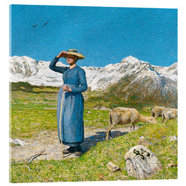 Acrylic print  Lunch in the Alps - Giovanni Segantini