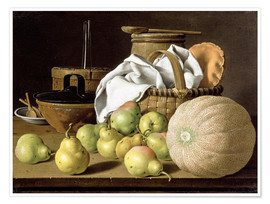 Premium poster Still Life with Melon and Pears