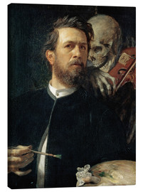 Canvas print  Self-Portrait with Death Playing the Fiddle - Arnold Böcklin