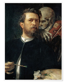 Premium poster  Self-Portrait with Death Playing the Fiddle - Arnold Böcklin