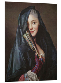 Foam board print  Lady with veil - Alexander Roslin