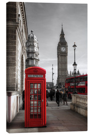 Canvas print  London telephone box and Big Ben - Filtergrafia