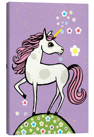 Canvas print  Magic dust, the unicorn - Little Miss Arty