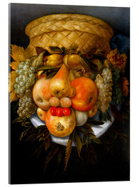 Acrylic glass  Portrait of a man from fruits - Giuseppe Arcimboldo