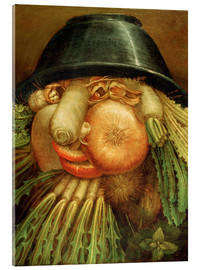 Acrylic glass  The Vegetable Gardener or a Joke with Vegetables - Giuseppe Arcimboldo