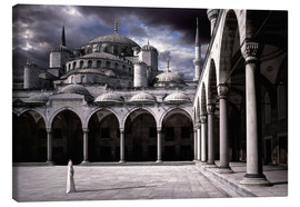 Canvas print  Lady and the mosque - Daniel Murphy