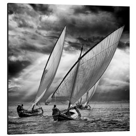 Aluminium print  Sailboats and light - Angel Villalba