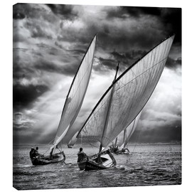 Canvas print  Sailboats and light - Angel Villalba
