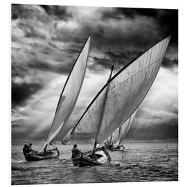 Foam board print  Sailboats and light - Angel Villalba