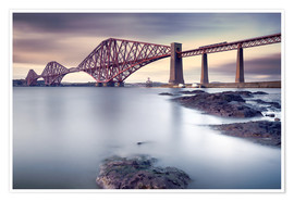 Premium poster  Forth Rail Bridge - Martin Vlasko