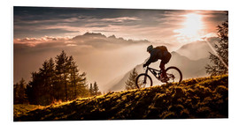 Foam board print  Golden hour biking - Sandi Bertoncelj