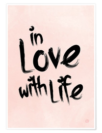 Poster  in love with life - m.belle