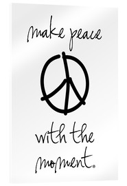 Acrylic print  make peace - m.belle