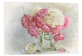 Foam board print  roses and peonies - Lizzy Pe